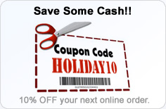 Coupon Code for 10% OFF -- HOLIDAY10