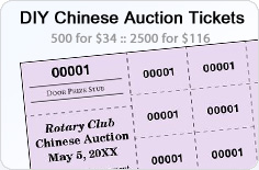 Do-It-Yourself Chinese Raffle Tickets