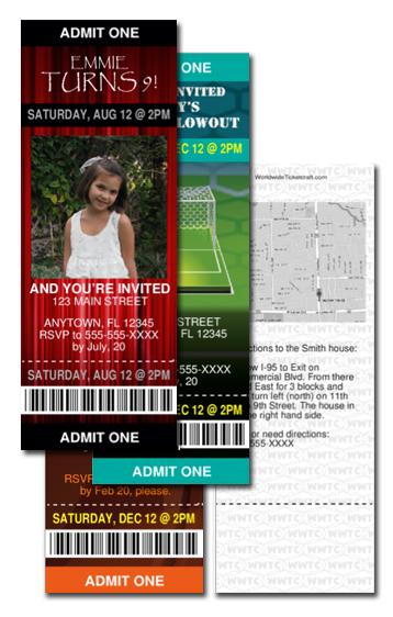 DIY Invitiation Tickets